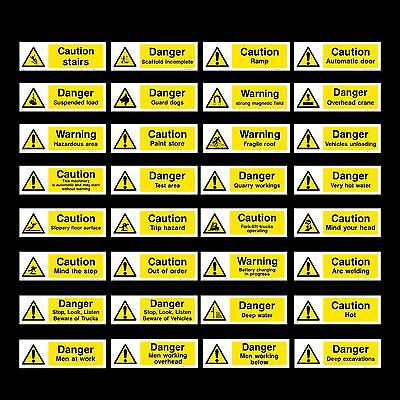 Electric Risk / Volts / Cable / Fence / Live - Plastic Sign, Sticker - All Sizes