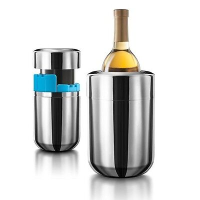 ICE CHILLER STEEL Wine Champagne Bottle FREEZER Cooler Table Centrepiece Bucket