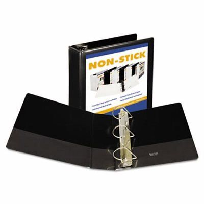 "Samsill Nonstick D-Ring View Binder, 11 x 8-1/2, 4"" Capacity, Black (SAM16490)"