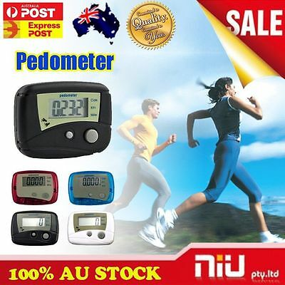 AU Stock Digital LCD Run Step Mini Pedometer Calorie Walking Distance Counter