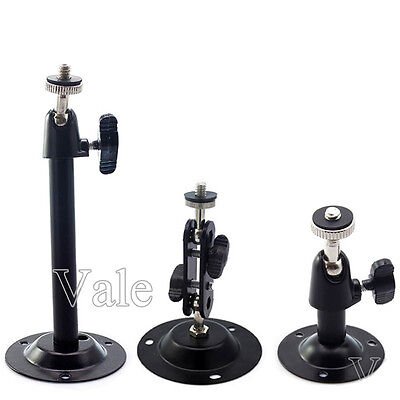 Wall Mount Bracket Installation Metal Holder Secure Rotary CCTV Camera Stand