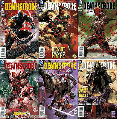 7x copies NEW 52 DEATHSTROKE 1-2-3-4-5-6 COMICS + #1 MONSTER VARIANT