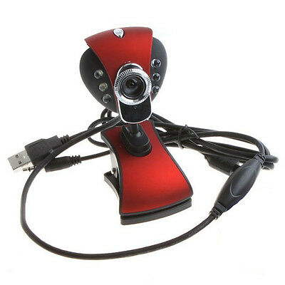 New Webcams USB 50.0 Mega 6 LED HD Webcam Camera with MIC For Computer PC Laptop