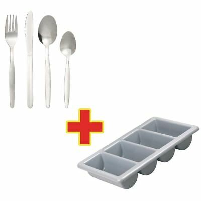 240X Cutlery And Dispenser Combo Deal Kitchen Holder Rack Organizer Commercial