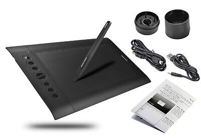 Huion H610 Pro 10 x 6.25 inch Graphics Drawing Tablet + Rechargeable Pen UK Ship