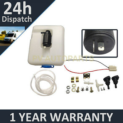 Universal 12V One Outlet Kit + 1.3 Litre Bag Window Washer Fluid Pump