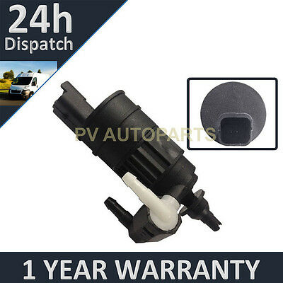 For Renault Clio Mk2 1998-2005 Front & Rear Two Outlet Window Washer Fluid Pump