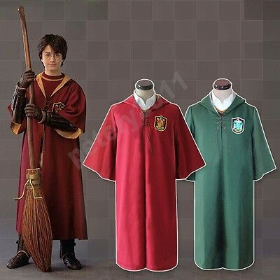 Harry Potter Slytherin Gryffindor Quidditch Cosplay Costume