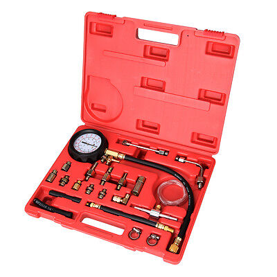 Fuel Pressure Meter Tester Oil Combustion Spraying Injection Gauge Test Tool