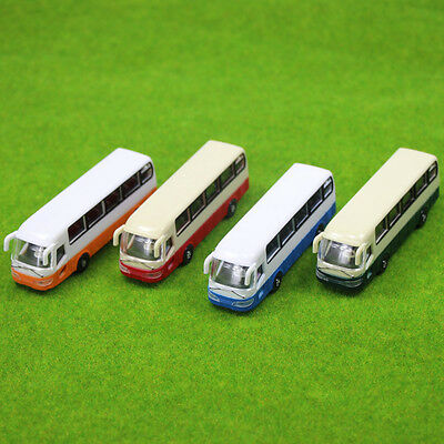 2pcs Model Cars Buses 1:100 TT HO Scale Railway Layout Plastic NEW Free Shipping