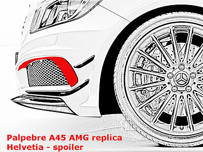 PALPEBRE / Flaps / Flips / Aero Front Spoiler MERCEDES CLASSE A 45 AMG look