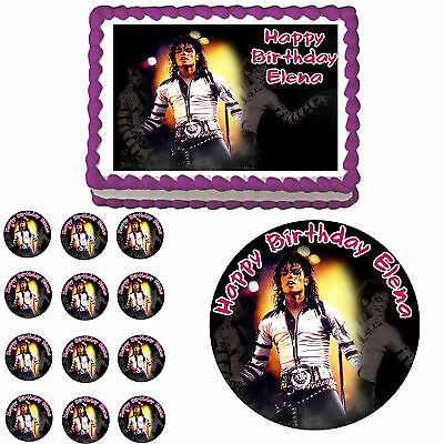 Michael Jackson Edible Birthday Party Cake Cupcake Topper Decoration