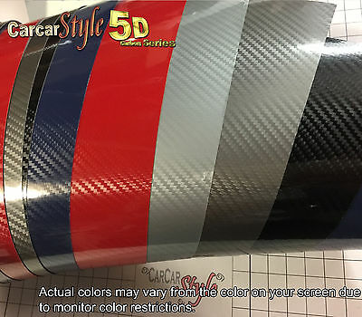 5D Gloss  Shining 【750mm X 300mm】Carbon Fibre Vinyl Wrap Sticker for Wrapping