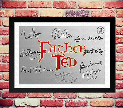Father Ted Cast Signed Autograph Print Poster Photo Tv Show Series Season Dvd