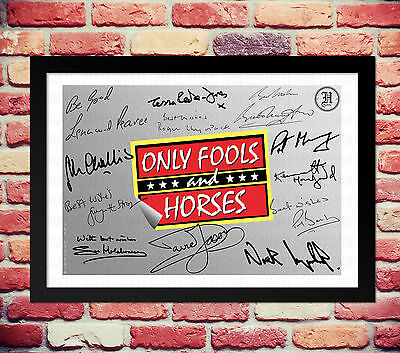 Only Fools And Horses Cast Signed Autograph Print Poster Photo Tv Show Series
