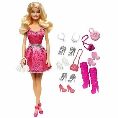 Barbie Doll And Shoes Gift Set