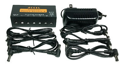 Pedal Board Power Supply Accel Compact Power Source 6
