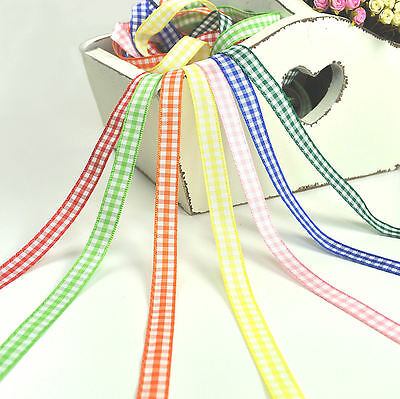 Berisford 10mm Gingham Ribbon - 5 metres - Bear Doll Making