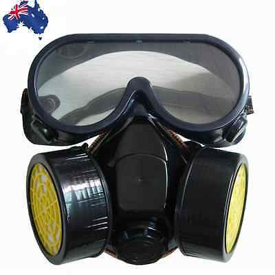 Respirator Dual Cartridge Dust Paint Filter Active Carbon Mask Goggles TMASK0201