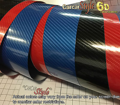 6D Gloss  【1520MM X 300MM】 Carbon Fibre Vinyl Wrap Film Sticker 5D Upgraded