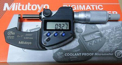 "Mitutoyo 293-340 Digital Digimatic Coolant Proof Micrometer 0-1""/0-25.4mm"