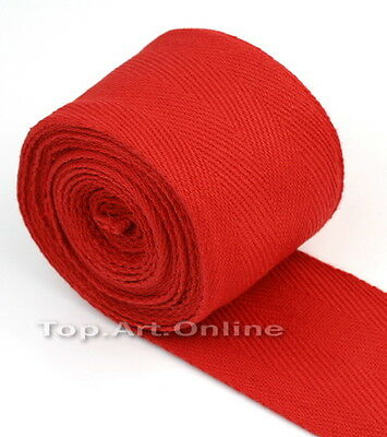 Zooboo BOXING HAND WRAPS BANDAGES 100% COTTON PAIR Red HIGH QUALITY hi8l