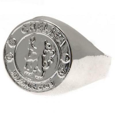 Official Licensed Football Product Chelsea FC Silver Plated Crest Ring Small New