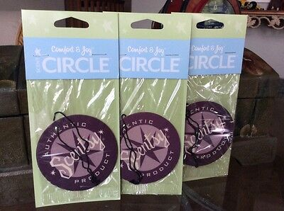 "Lot 3 Scentsy Scent Circle Air Fresheners ""Comfort & Joy"" Car Home Anywhere!"