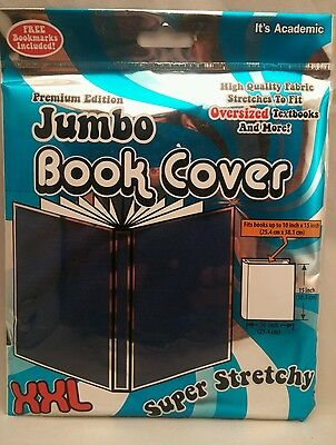 JUMBO XXL Book Cover **BLUE** Super Stretchy up to 10