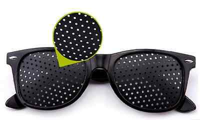 Anti-fatigue Pinhole Glasses Stenopeic Vision Improver Eyesight Car Sunglasses
