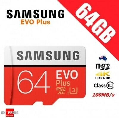 Samsung EVO Plus 64GB Micro SD SDXC Class 10 100MB/s Mobile Galaxy Memory Card