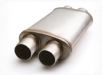 """ETC 49568 Performance Muffler - Stainless Dual Inlet/Dual Outlet - 2.5"""" In/Out"""
