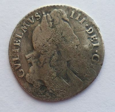 1697 William III Sixpence Coin