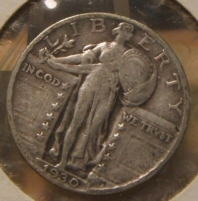1930~~Standing Liberty~Silver Quarter~Nice~~Last Year