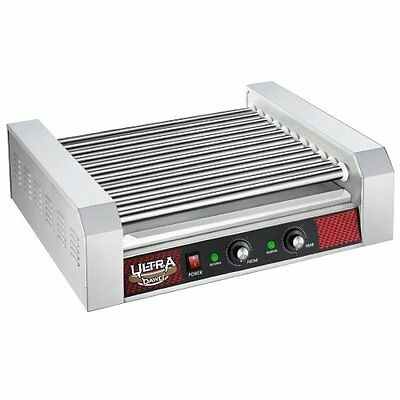 30 Hot Dog 11 Roller Grill Machine Vendor Concession C Store Theater Cook Warmer