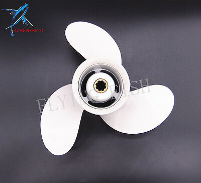 9 1/4x9-J Outboard Aluminum Alloy Propeller for Yamaha 63V-45945-00 9.9HP 15HP