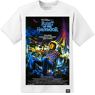 Flight Of The Navigator Retro Movie Poster T Shirt  (S - 3XL) Labyrinth Retro