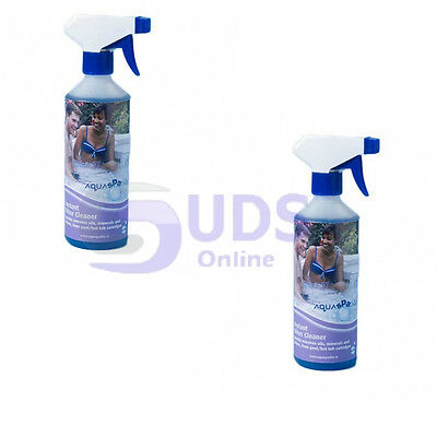 2 x Instant Filter Cleaner Spray For Hot Tub, Swimming Pool & Spa Cartridges