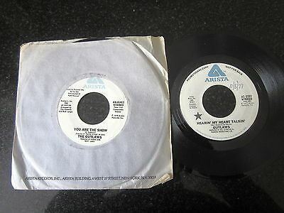 "OUTLAWS ""IF DREAMS CAME TRUE"" / ""HEARIN' MY HEART TALKIN'"" 2 x PROMO 7"""