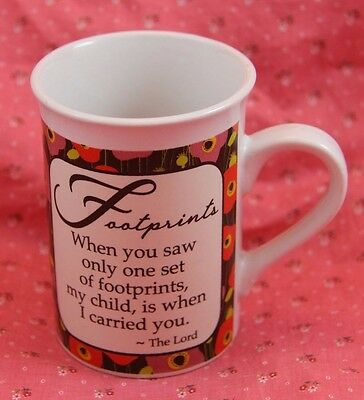 Footprints religious Christian Prayer Coffee tea mug Bay Island