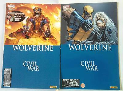 WOLVERINE 158 et 159 (Marvel Panini 2007) CIVIL WAR / Collector edition