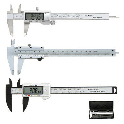 "UK 6"" 150mm Stainless Vernier Caliper Gauge Micrometer Measuring Electronic Tool"