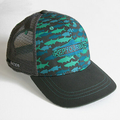 Rep Your Water Camo Hat  - Camo/Dark Gray