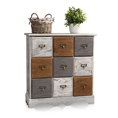 shabby chic kommode blau schublade t r aufdruck. Black Bedroom Furniture Sets. Home Design Ideas