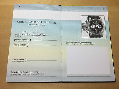 New - GRAHAM Chronofighter Steel Leather - Passport with Operating Instructions
