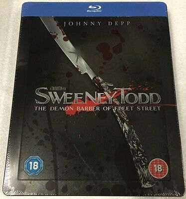 Sweeney Todd Steelbook - UK Exclusive Very Limited Edition Blu-Ray *Region B*