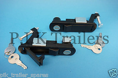 2 x LOCKING Compression Latch Levers for Trailers Motorhome Caravan C2