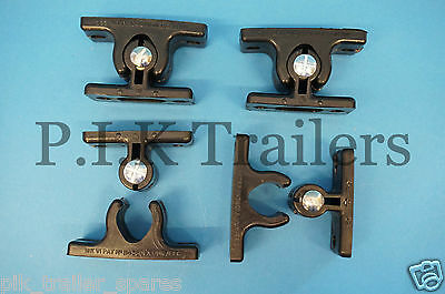 4 x Black Nylon Door Holder Retainer Hold Back for Trailers Horse Box