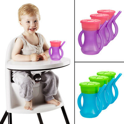 3 Evriholder 2-in-1 Sippy Snacky Cups Built-In Straw Handles BPA-Free, Ages 1+