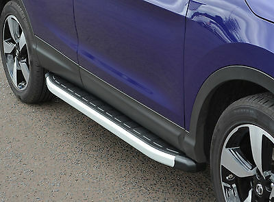 Aluminium Running Boards Side Steps Side Bars For Nissan Qashqai 2014+